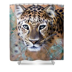 Copper Stealth - Leopard Shower Curtain