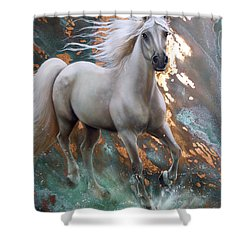 Copper Sundancer - Horse Shower Curtain