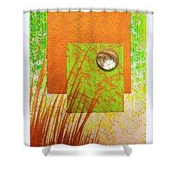 Copper Sunset Shower Curtain by Darren Robinson