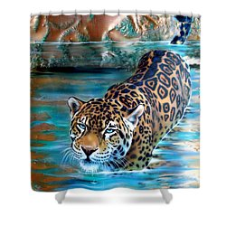 Copper - Temple Of The Jaguar Shower Curtain