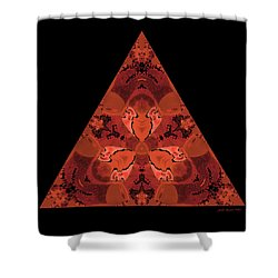 Shower Curtain featuring the digital art Copper Triangle Abstract by Judi Suni Hall