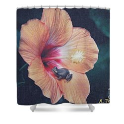 Shower Curtain featuring the photograph Coqui  by The Art of Alice Terrill
