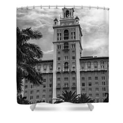 Coral Gables Biltmore Hotel In Black And White Shower Curtain
