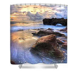 Coral Garden Shower Curtain by Debra and Dave Vanderlaan