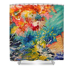 Coral Madness Shower Curtain