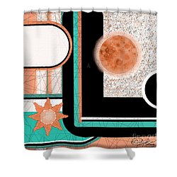 Shower Curtain featuring the painting Coral Moon by Carol Jacobs