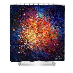 Coral Nebula #2 Shower Curtain by Freddie Lieberman