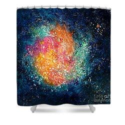 Coral Nebula Shower Curtain by Freddie Lieberman