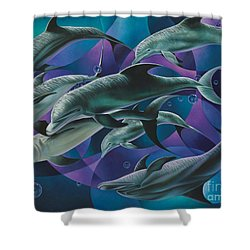 Corazon Del Mar  Shower Curtain