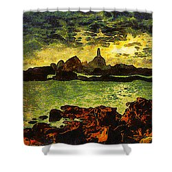 Corbiere Lighthouse Shower Curtain by Unknown
