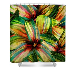 Cordyline Shower Curtain by Lourry Legarde
