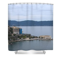 Corfu City 4 Shower Curtain
