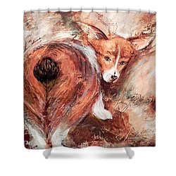 Corgi Butt Shower Curtain