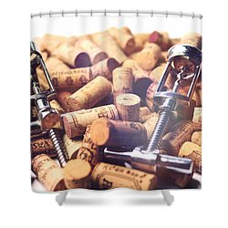 Corks And Corkscrews  Shower Curtain by Stefano Senise