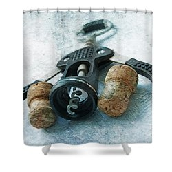Corkscrew  Shower Curtain