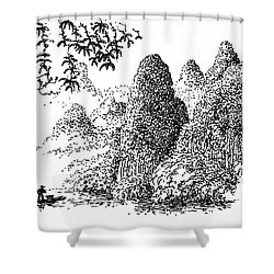 Cormoran Fishing Shower Curtain