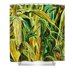 Shower Curtain featuring the painting Spirit Of The Corn by Anna-maria Dickinson