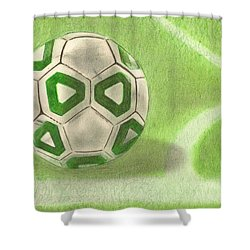Corner Kick Shower Curtain