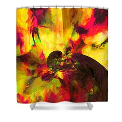Shower Curtain featuring the digital art Corner Of Discovery by Joe Misrasi