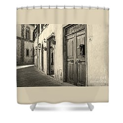 Corner Of Volterra Shower Curtain