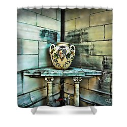 Corner Vase Shower Curtain by Joan  Minchak