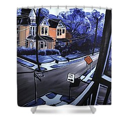 Corner View Shower Curtain by Jennifer Noren