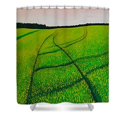 Cornfield Shower Curtain by Sven Fischer