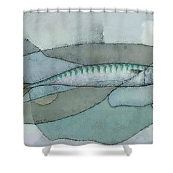 Cornish Mackerel Shower Curtain by Steve Mitchell