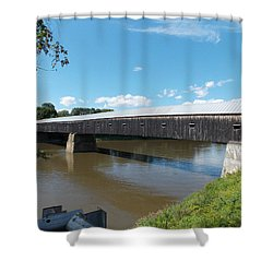 Cornish Windsor Bridge Shower Curtain