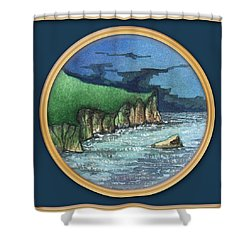 Cornwall Cliffs Shower Curtain