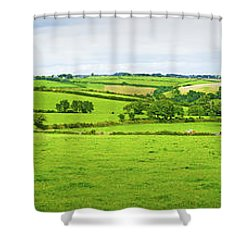 Cornwall Panorama Color Shower Curtain by Chevy Fleet