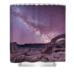 Corona Arch Milky Way Shower Curtain