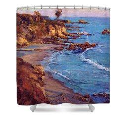 Corona Del Mar Newport Beach California Shower Curtain