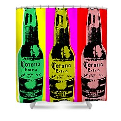 Corona Beer Shower Curtain by Jean luc Comperat