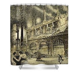 Coronation Evening London 1937 Shower Curtain by Jack Coburn Witherop