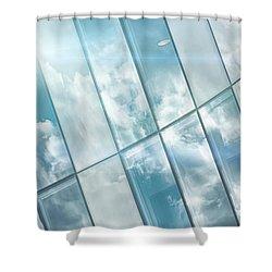 Corporate Flare Reflection Shower Curtain by Antony McAulay