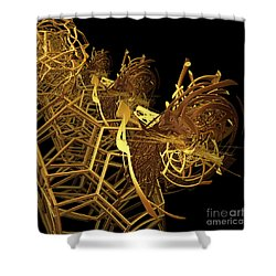 Corporate Ladder By Jammer Shower Curtain by First Star Art