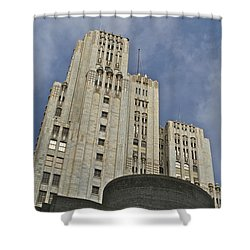 Corporate Monolith  Shower Curtain