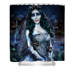 Corpse Bride Shower Curtain