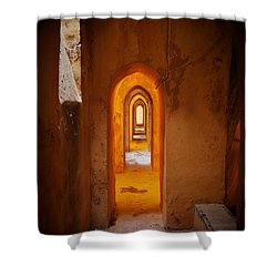 Corridor In The Real Alcazar Of Seville Shower Curtain