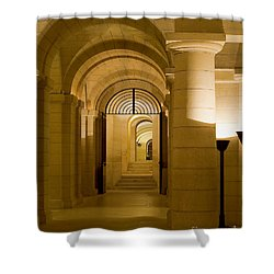 Shower Curtain featuring the photograph Corridors by Victoria Harrington