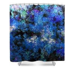 Corrosion Bleue Shower Curtain by RochVanh