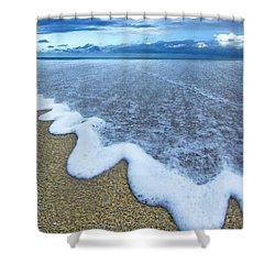 Corrugated Foam Shower Curtain