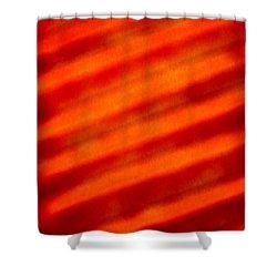Corrugated Orange Shower Curtain