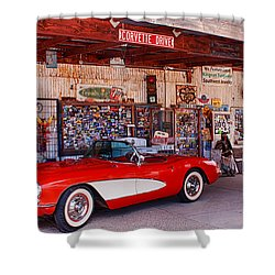 Corvette Drive Rt 66 Shower Curtain