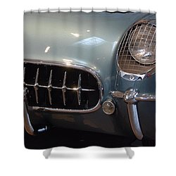 Corvette Roadster 1955 Shower Curtain