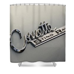 Corvette Sting Ray Shower Curtain