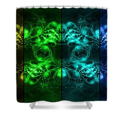 Cosmic Alien Eyes Pride Shower Curtain