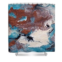 Cosmic Blend Two Shower Curtain by M West