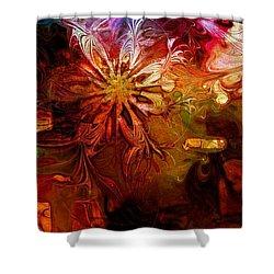 Cosmic Bloom Shower Curtain by Amanda Moore
